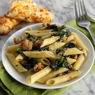 Chicken Sausage and Kale Pasta.