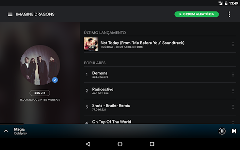Spotify Music– miniatura da captura de ecrã