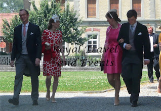 Photo: Countess Magdalena of Habsburg-Lothringen with husband Sebastian Bergmann, Count Valentin and Countess Christine of Habsburg-Lothringen