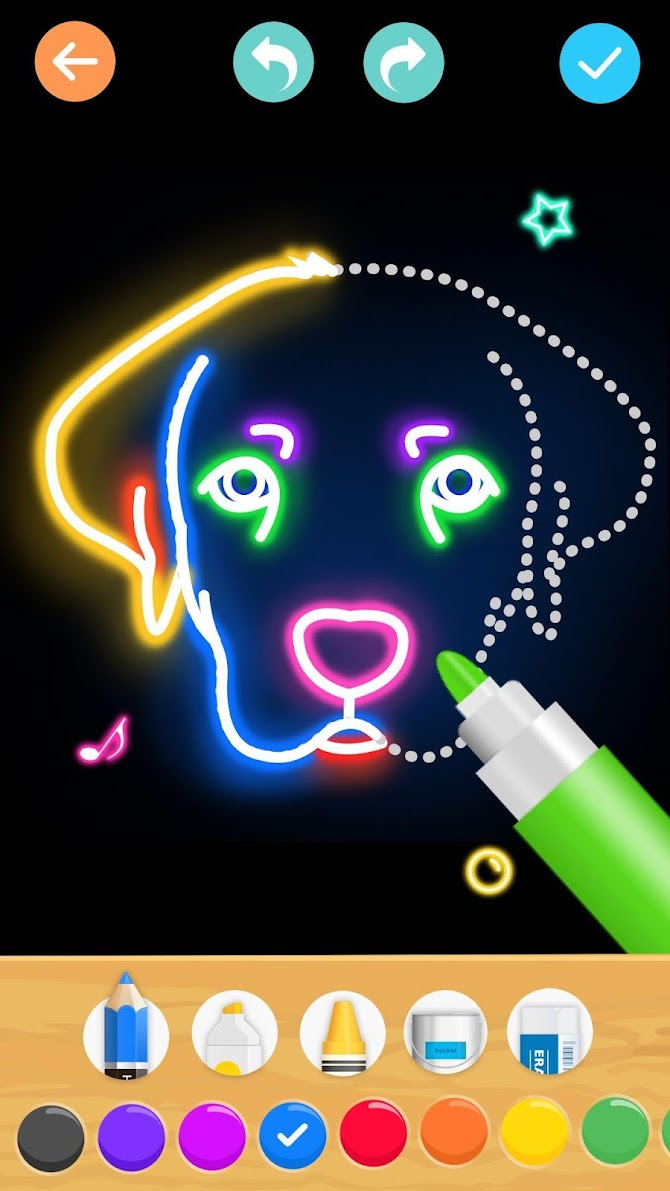 Draw Glow Animals Android 2