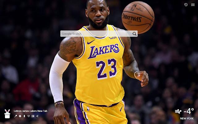 LeBron James Lakers New Tab, Wallpapers HD