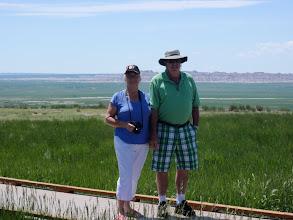 Photo: 07/06/2013 - Badlands - South Dakota - Dad and Heather
