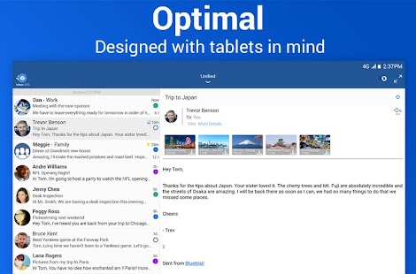 Blue Mail - Email App - Gmail, Outlook, Office 365 – miniaturescreenshot