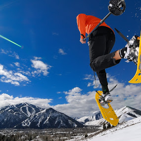 Snow Shoeing Sun Valley by Tory Taglio - Sports & Fitness Snow Sports ( idaho, snowshoe, winter, pwcwintersports, sun valley, running )