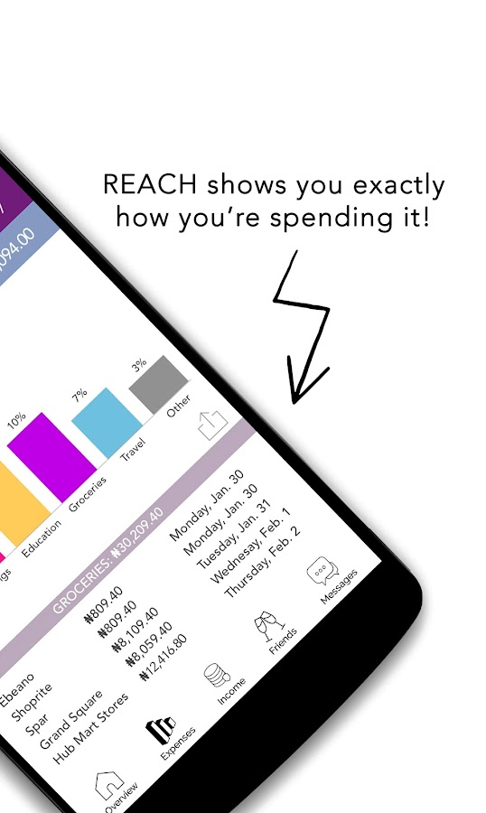 REACH - Expense & Spending Tracker, Money Manager- screenshot