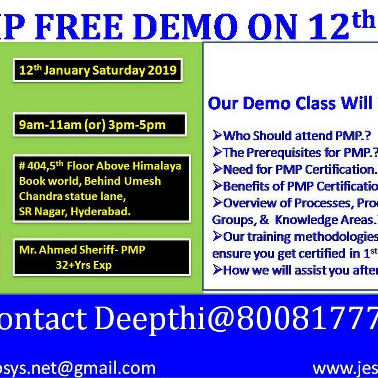 Pmpacppsm Certification Training Professional Organizer In Hyderabad