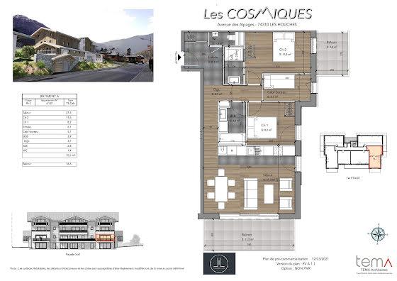 Vente appartement 4 pièces 70,1 m2