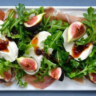 Fig, Prosciutto and Burrata Cheese Salad.