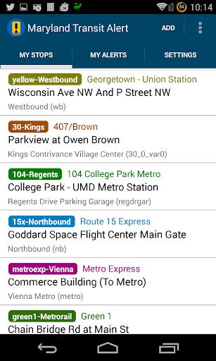 Maryland Transit Alert