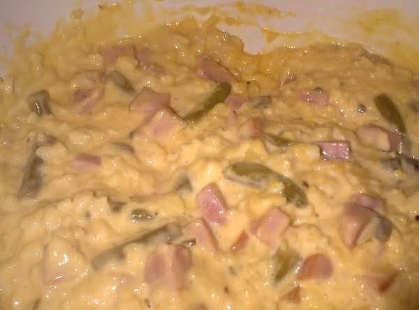 Cheesy Ham And Rice Casserole