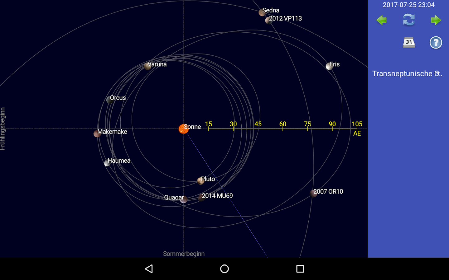 Sonne, Mond, Planeten – Screenshot