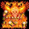 Burning Skull Keyboard icon
