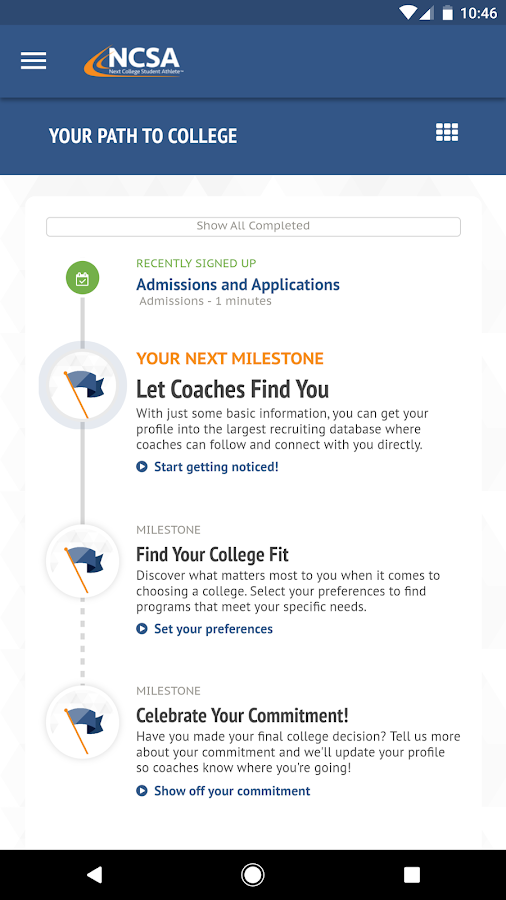NCSA Athletic Recruiting- screenshot