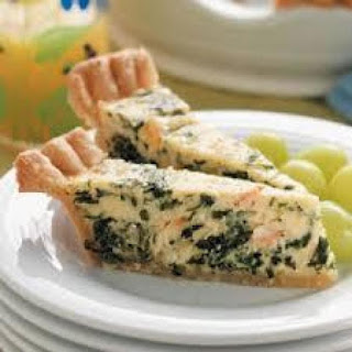Spinach and Cheese Quiche.