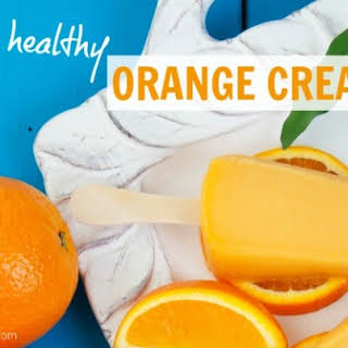 Homemade Healthy Orange Creamsicles.