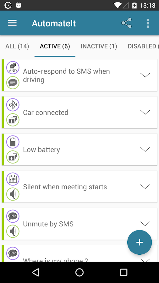 AutomateIt Pro - Easy task automation for Android- screenshot