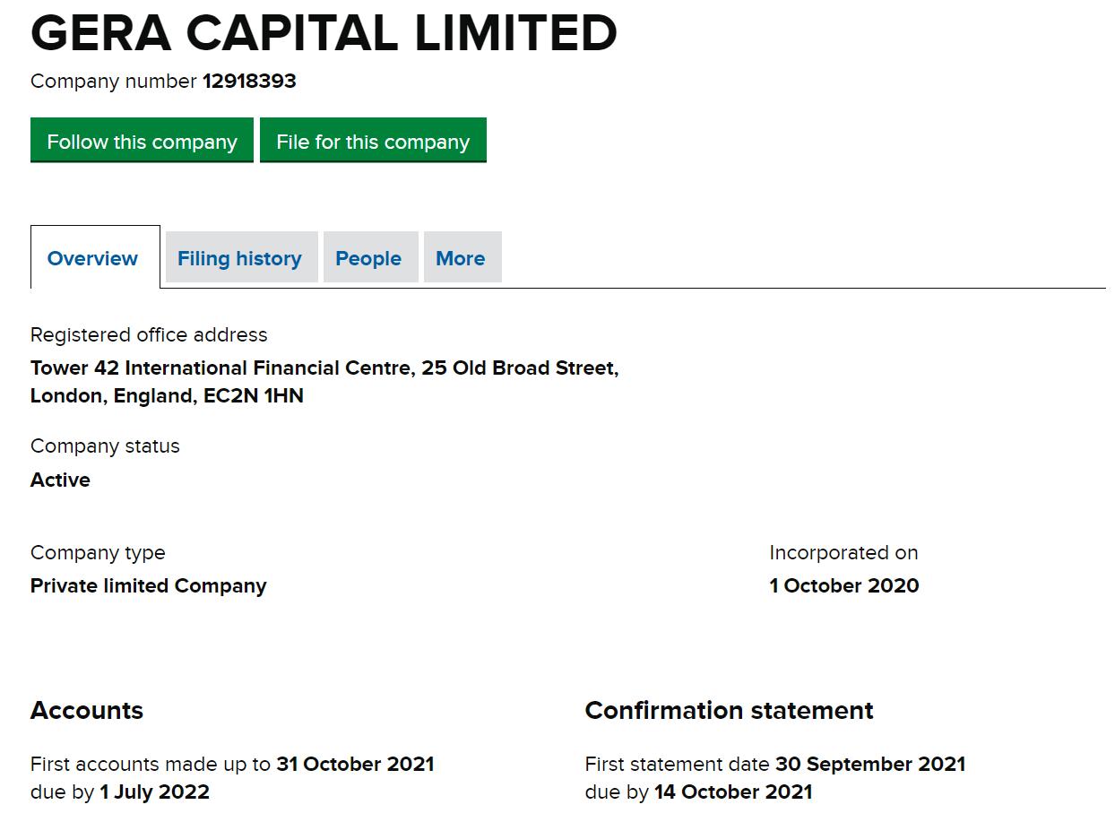 Обзор инвестиционной платформы Gera Capital и отзывы