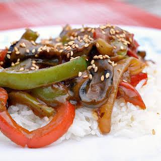 Vegan Pepper Steak.