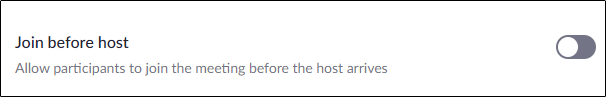 """The """"Join Before Host"""" option."""