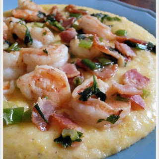 Garlic Shrimp & Cheesy Grits