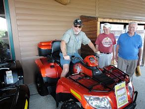 Photo: Randy Disanto trying the 4-wheeler