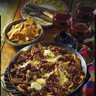 Beef and Bean Nachos.
