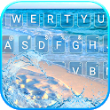 Blue Ocean Beach Keyboard Theme icon