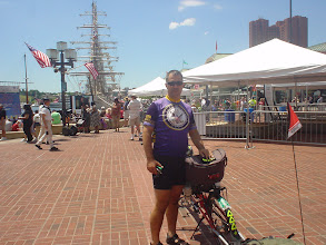 Photo: We were in luck as the Tall Ships were docked at the Inner Harbor along with thousands of tourists