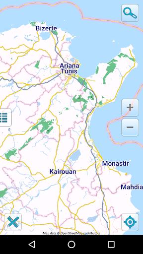 map of tunisia offline screenshot 1