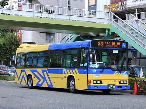 近鉄バス「八尾~住道線」 6721