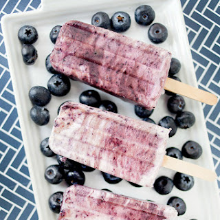 Blueberry Coconut Protein Pops.