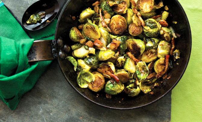 Roasted Brussels Sprouts with Bacon Recipe | Yummly