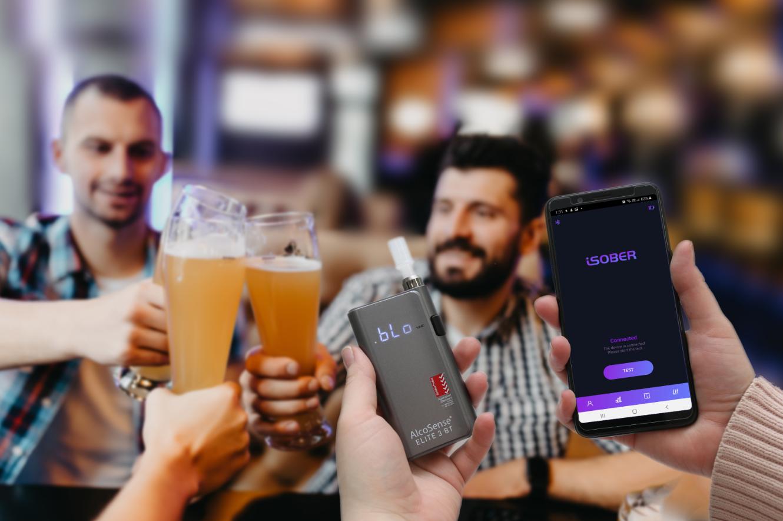 AlcoSense Elite 3 BT mobile app breathalyser