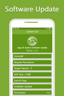 Update Apps & System Software Update - náhled