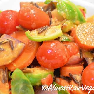 Vegetable & Wild Rice Stir-fry.
