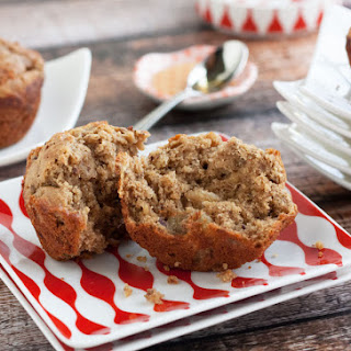 Gluten Free Banana Muffins with Peanut Butter.