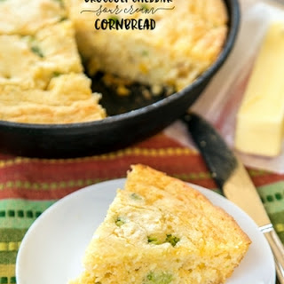 Broccoli Cheddar Sour Cream Cornbread.