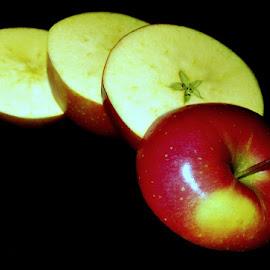 APPLE SLICES by Karen Tucker - Food & Drink Fruits & Vegetables ( apple, fruit, healthy food, colourful, apple slices, food )