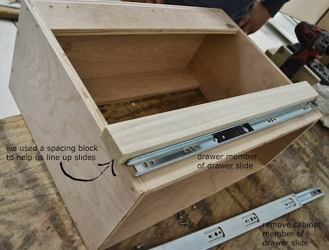 wood drawers plans ana white pull out drawers diy projects