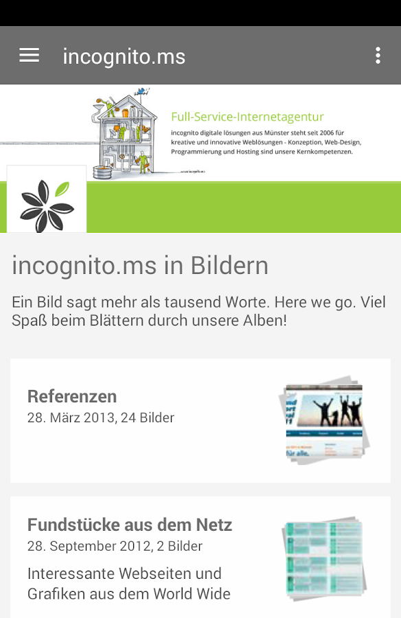 incognito digitale lösungen- screenshot