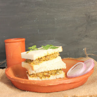Mixed Sprouts Sandwich.