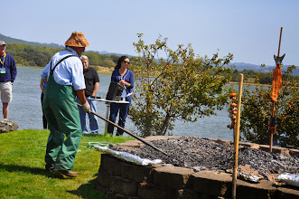 Photo: raking the pit tp find the salmon - Don and Lucinda Divoto