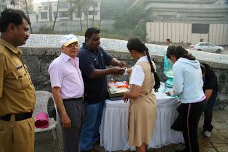 Photo: Gokhale volunteered as Medical  Help