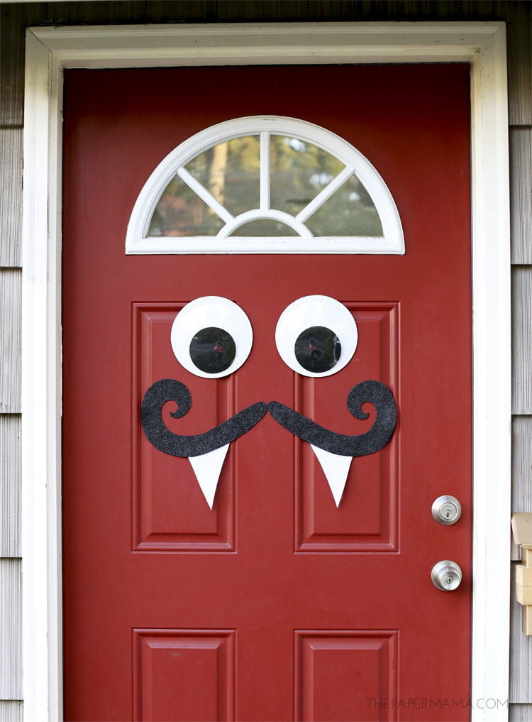 Monster Door: These 30 DIY Halloween Decorations That Are Wickedly Creative will save you money and allow your creativity to flourish