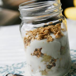 Sauteed Banana, Granola and Yogurt Parfait Recipe