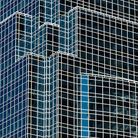 Glass building geometry by Dan Allard - Buildings & Architecture Architectural Detail ( building, financial district, boston, glass, pwcdetails, architecture, geometry,  )