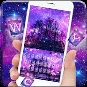 Galaxy Night Tree Keyboard Theme