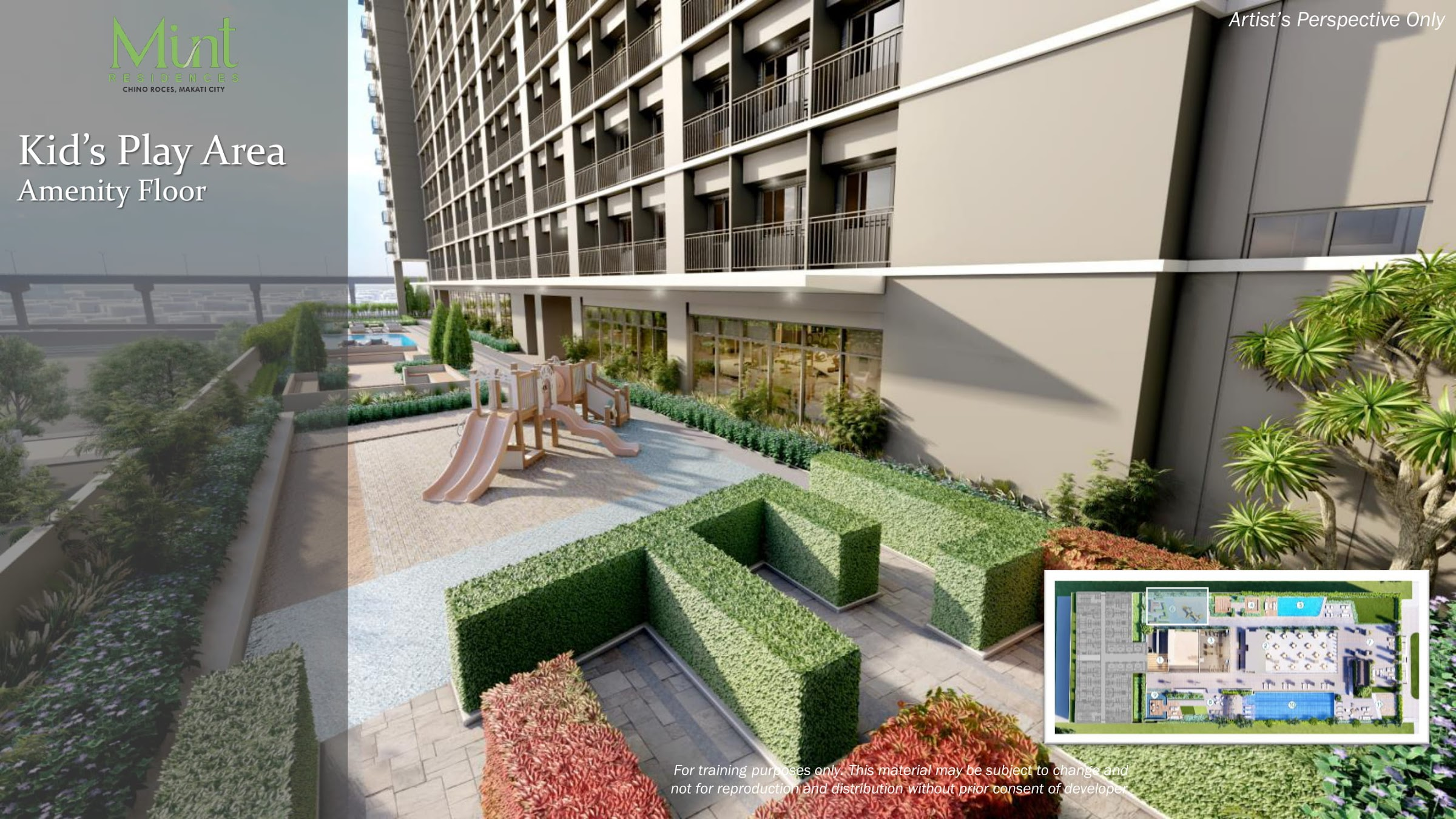 Mint Residences, Chino Roces Makati kid's play area