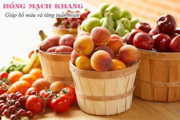 Các loại trái cây giàu chất xơ, chất chống viêm rất tốt cho người thiểu năng tuần hoàn não