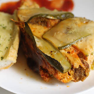 Slow Cooker Zucchini Lasagna with Meat Sauce.